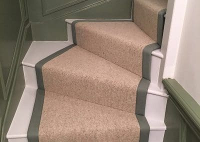 Stair carpet with runner